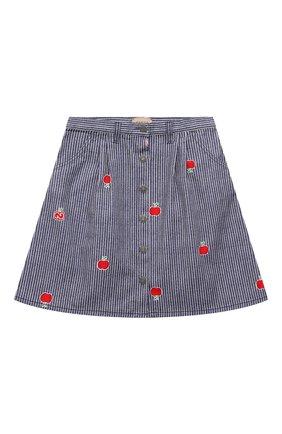 Детская джинсовая юбка GUCCI голубого цвета, арт. 646803/XDBKY | Фото 1