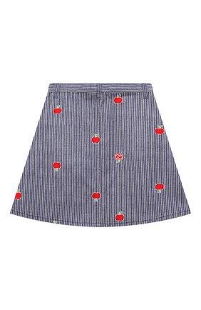 Детская джинсовая юбка GUCCI голубого цвета, арт. 646803/XDBKY | Фото 2
