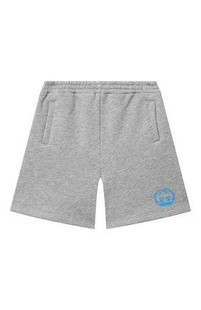 Детские хлопковые шорты GUCCI светло-серого цвета, арт. 646401/XJC7B   Фото 1