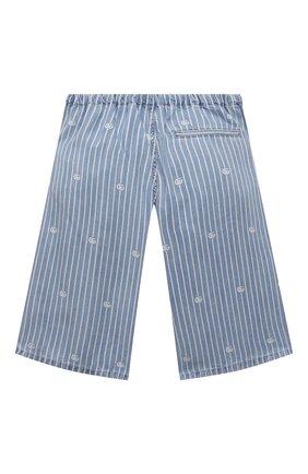 Детские джинсовые шорты GUCCI голубого цвета, арт. 645455/XDBJQ   Фото 2