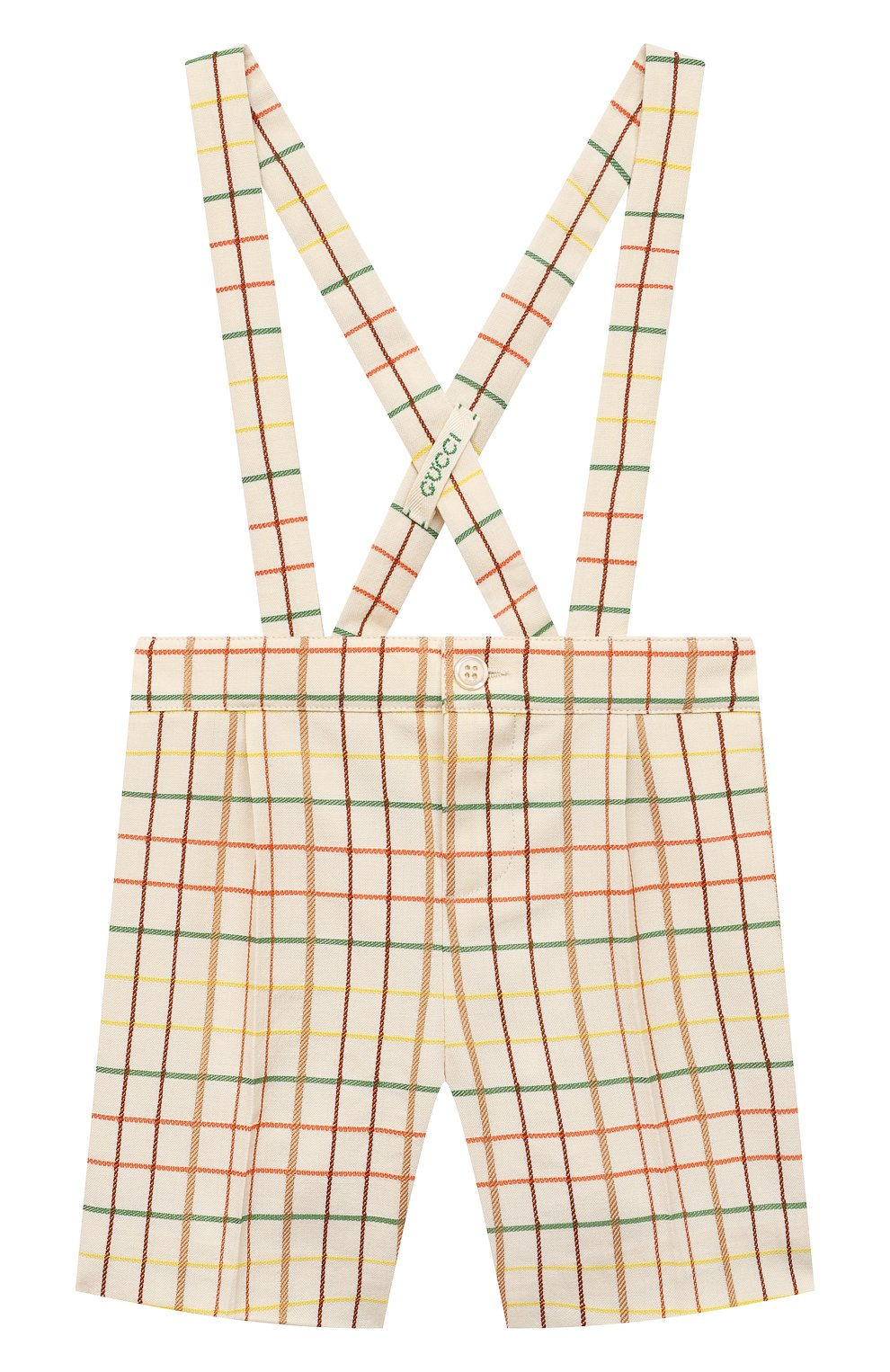 Детские шерстяные шорты GUCCI разноцветного цвета, арт. 644642/XWAMR | Фото 1