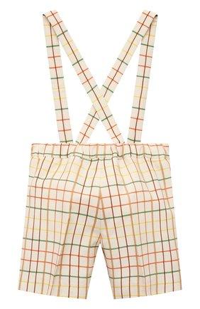 Детские шерстяные шорты GUCCI разноцветного цвета, арт. 644642/XWAMR | Фото 2