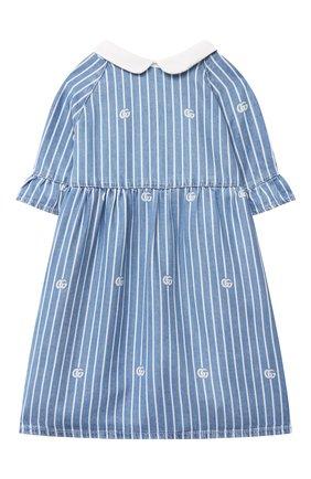 Женский джинсовое платье GUCCI голубого цвета, арт. 643411/XDBKU | Фото 1