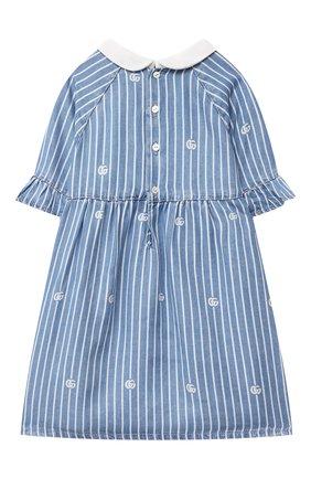 Женский джинсовое платье GUCCI голубого цвета, арт. 643411/XDBKU | Фото 2