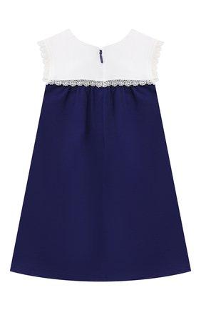 Женский хлопковое платье GUCCI синего цвета, арт. 642713/XJDAL | Фото 2