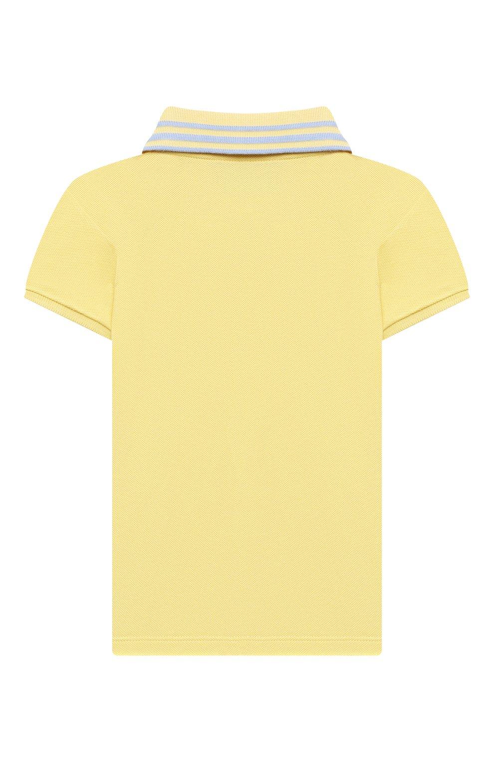 Детский хлопковое поло GUCCI желтого цвета, арт. 638464/XJC39 | Фото 2