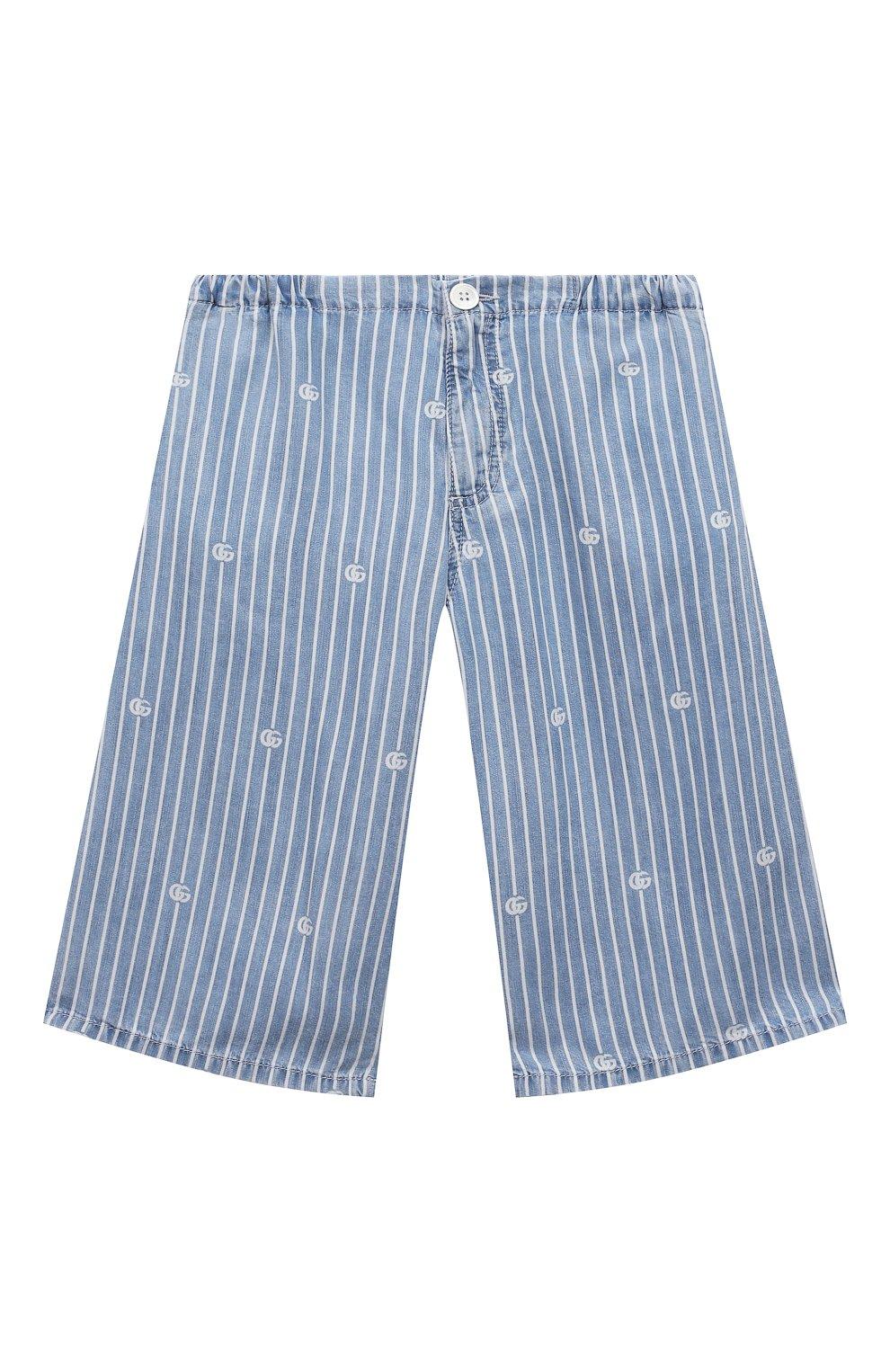 Детские джинсовые шорты GUCCI голубого цвета, арт. 638149/XDBJQ | Фото 1