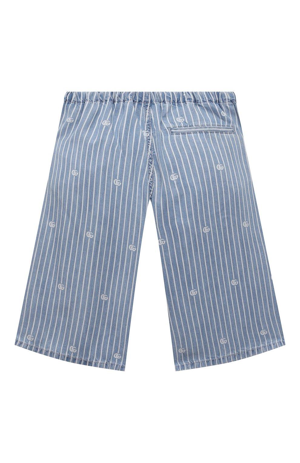 Детские джинсовые шорты GUCCI голубого цвета, арт. 638149/XDBJQ | Фото 2
