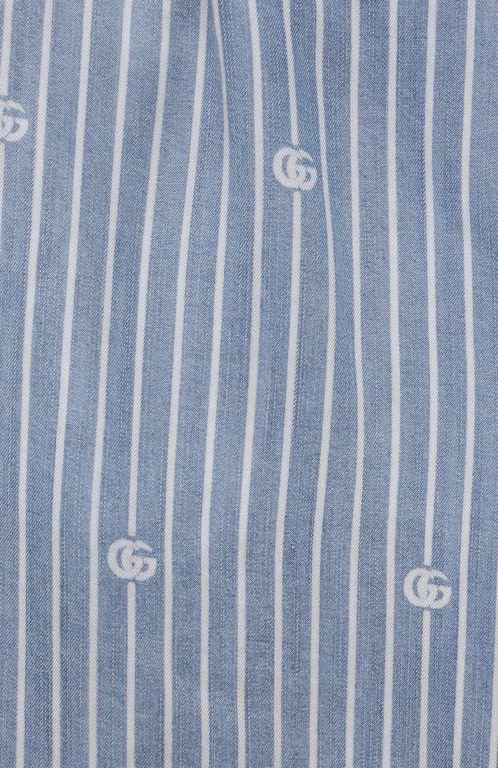 Детские джинсовые шорты GUCCI голубого цвета, арт. 638149/XDBJQ | Фото 3