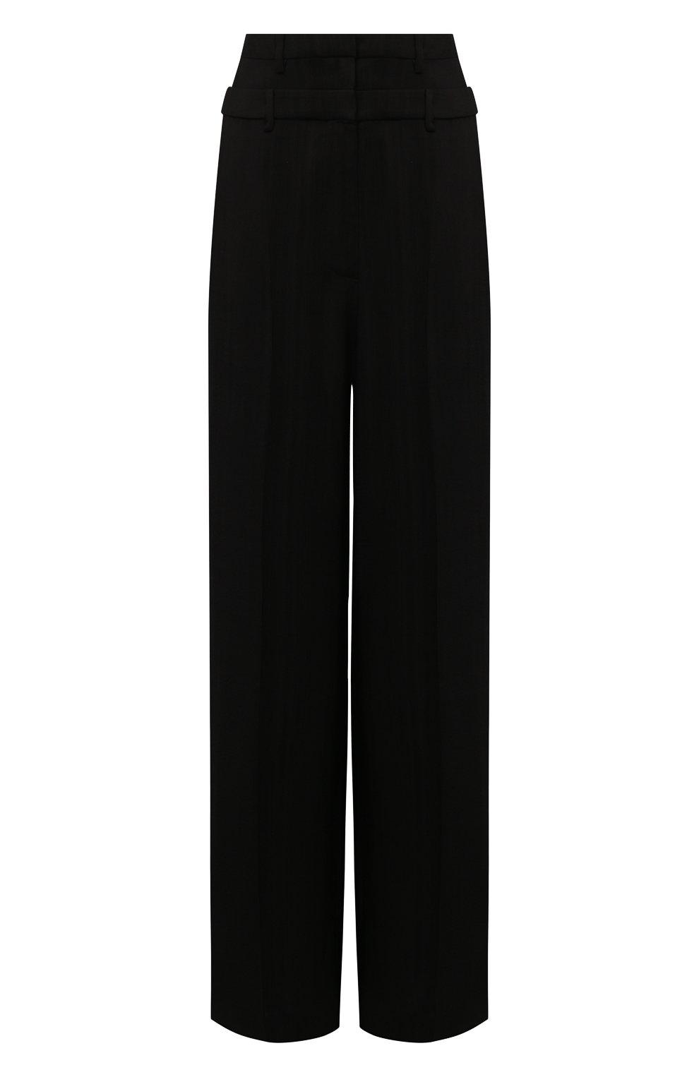 Женские брюки из вискозы REJINA PYO черного цвета, арт. E140/VISC0SE   Фото 1 (Длина (брюки, джинсы): Стандартные; Женское Кросс-КТ: Брюки-одежда; Силуэт Ж (брюки и джинсы): Прямые; Материал внешний: Вискоза; Стили: Кэжуэл)