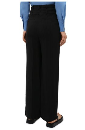 Женские брюки из вискозы REJINA PYO черного цвета, арт. E140/VISC0SE   Фото 4 (Длина (брюки, джинсы): Стандартные; Женское Кросс-КТ: Брюки-одежда; Силуэт Ж (брюки и джинсы): Прямые; Материал внешний: Вискоза; Стили: Кэжуэл)