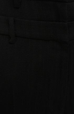 Женские брюки из вискозы REJINA PYO черного цвета, арт. E140/VISC0SE   Фото 5 (Длина (брюки, джинсы): Стандартные; Женское Кросс-КТ: Брюки-одежда; Силуэт Ж (брюки и джинсы): Прямые; Материал внешний: Вискоза; Стили: Кэжуэл)