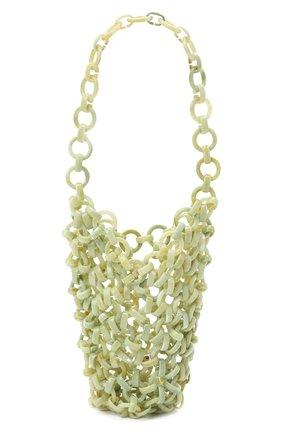 Женская сумка link JIL SANDER светло-зеленого цвета, арт. JSWS856570-WSB65002 | Фото 1