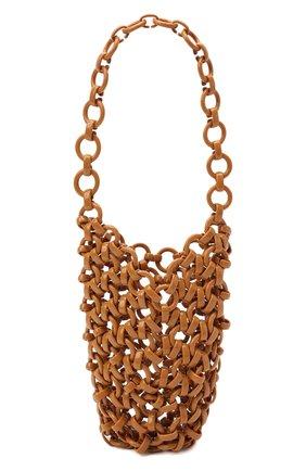 Женская сумка link JIL SANDER светло-коричневого цвета, арт. JSWS856570-WSB65002 | Фото 1 (Размер: mini; Материал: Экокожа; Сумки-технические: Сумки top-handle)