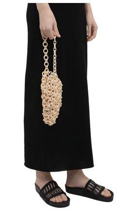 Женская сумка link JIL SANDER бежевого цвета, арт. JSWS856570-WSB65002 | Фото 2 (Сумки-технические: Сумки top-handle; Размер: mini; Материал: Экокожа)
