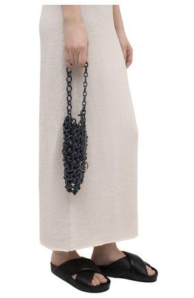 Женская сумка link JIL SANDER серого цвета, арт. JSWS856570-WSB65002   Фото 2 (Размер: mini; Сумки-технические: Сумки top-handle; Материал: Экокожа)