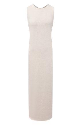 Женское платье из хлопка и вискозы JIL SANDER бежевого цвета, арт. JSWS751305-WSY25018   Фото 1