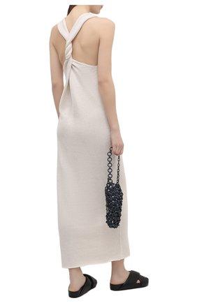 Женское платье из хлопка и вискозы JIL SANDER бежевого цвета, арт. JSWS751305-WSY25018   Фото 2