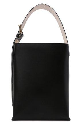 Женский сумка-тоут quilted JIL SANDER черного цвета, арт. JSPS852514-WSB00076N | Фото 1