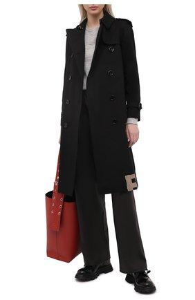 Женский свитшот из шерсти и хлопка JIL SANDER серого цвета, арт. JPPS751510-WSY21308 | Фото 2
