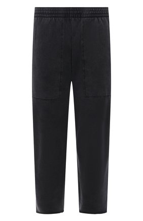 Мужские хлопковые брюки BALENCIAGA черного цвета, арт. 657117/TJVN8 | Фото 1 (Случай: Повседневный; Материал внешний: Хлопок; Мужское Кросс-КТ: Брюки-трикотаж; Стили: Спорт-шик; Длина (брюки, джинсы): Укороченные)