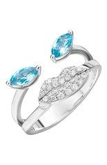 Женские кольцо DELFINA DELETTREZ бесцветного цвета, арт. ANA1021.C | Фото 1 (Материал сплава: Белое золото; Драгоценные камни: Бриллианты)