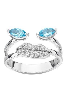 Женские кольцо DELFINA DELETTREZ бесцветного цвета, арт. ANA1021.C   Фото 2 (Материал сплава: Белое золото; Драгоценные камни: Бриллианты)