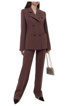 Женские брюки из вискозы LESYANEBO разноцветного цвета, арт. SS21/Н-157_2 | Фото 2 (Длина (брюки, джинсы): Удлиненные; Материал внешний: Вискоза; Стили: Кэжуэл; Силуэт Ж (брюки и джинсы): Прямые; Женское Кросс-КТ: Брюки-одежда)