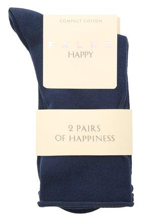 Женские хлопковые носки happy FALKE синего цвета, арт. 46417 | Фото 1