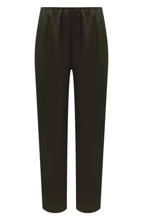 Женские шелковые брюки SIMONEPERELE хаки цвета, арт. 15B660 | Фото 1