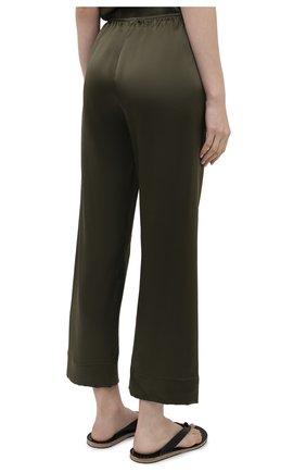 Женские шелковые брюки SIMONEPERELE хаки цвета, арт. 15B660 | Фото 4