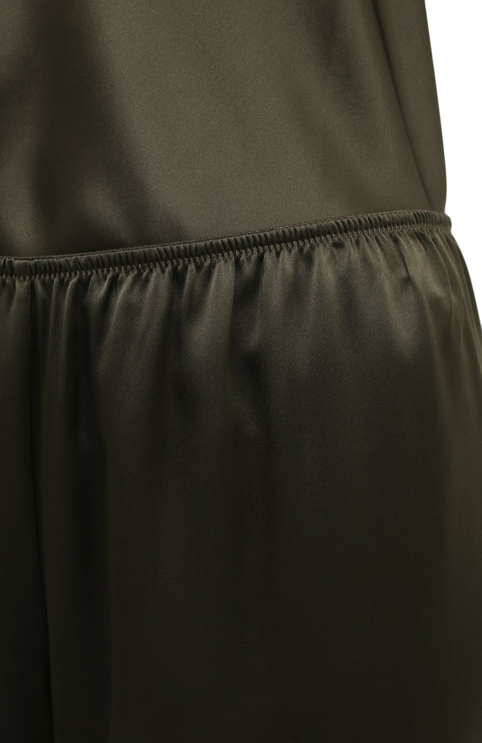 Женские шелковые брюки SIMONEPERELE хаки цвета, арт. 15B660 | Фото 5