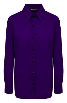 Женская замшевая рубашка TOM FORD фиолетового цвета, арт. CAL553-LEX257 | Фото 1