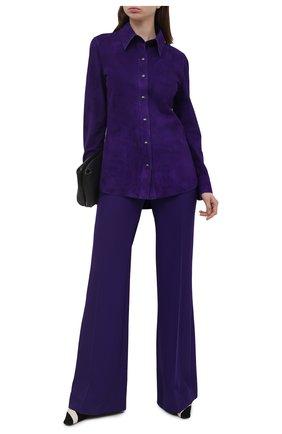 Женская замшевая рубашка TOM FORD фиолетового цвета, арт. CAL553-LEX257 | Фото 2