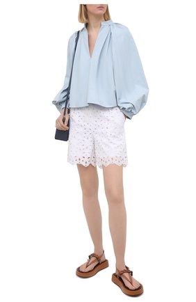 Женские шорты D.EXTERIOR белого цвета, арт. 52686 | Фото 2