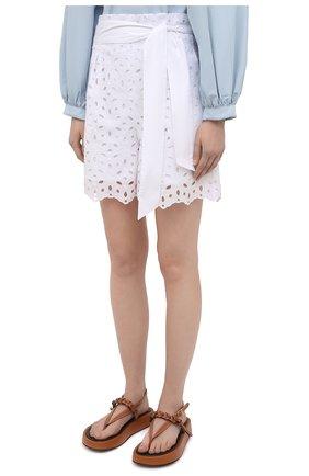 Женские шорты D.EXTERIOR белого цвета, арт. 52686 | Фото 3
