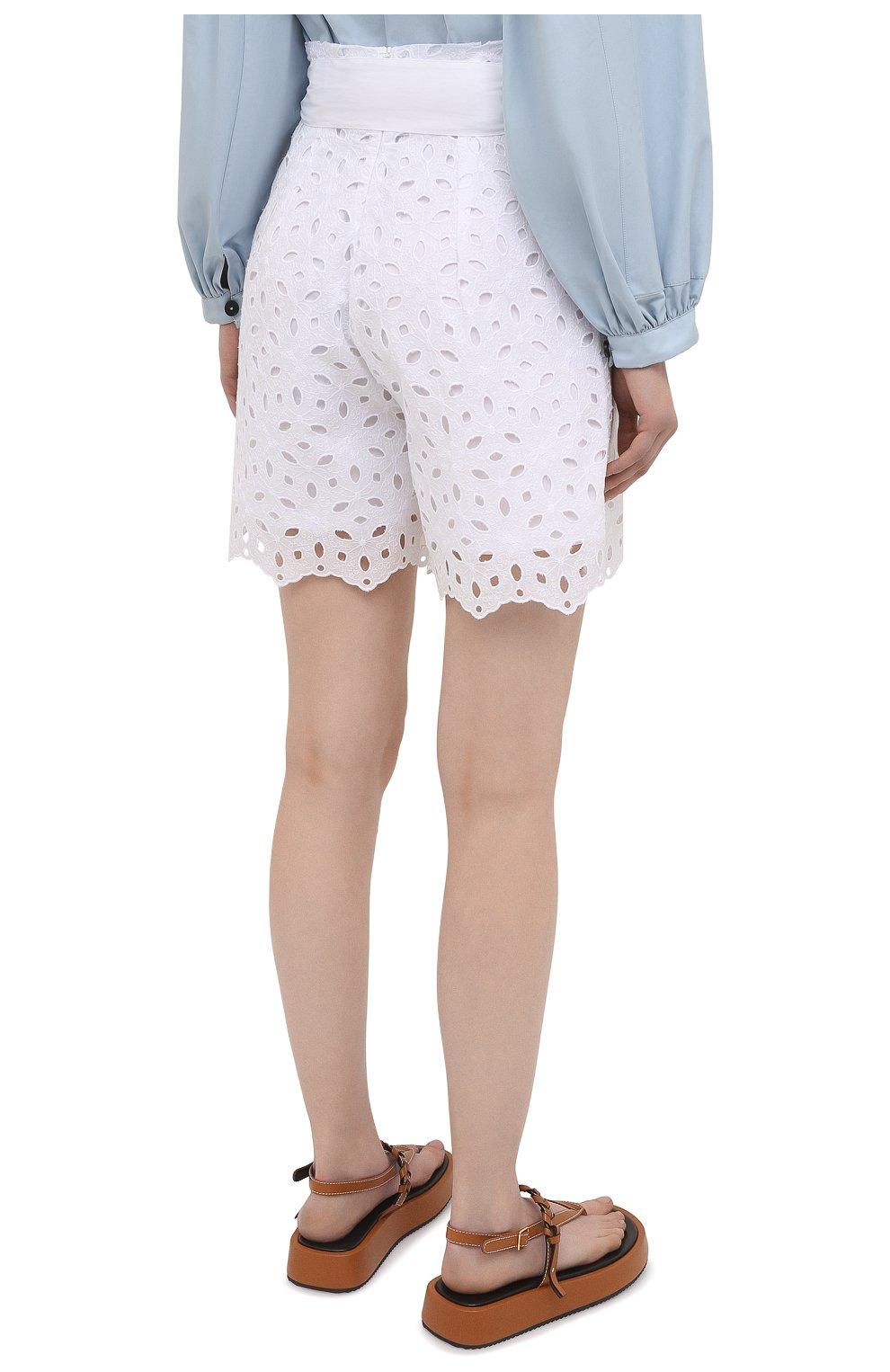 Женские шорты D.EXTERIOR белого цвета, арт. 52686 | Фото 4