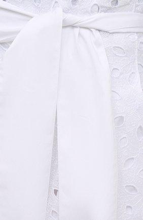Женские шорты D.EXTERIOR белого цвета, арт. 52686 | Фото 5