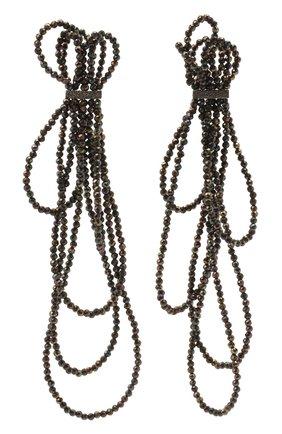 Женские серьги BRUNELLO CUCINELLI темно-серого цвета, арт. M0RW9LM47/M | Фото 1