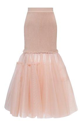Женская юбка ALEXANDER MCQUEEN розового цвета, арт. 659530/Q1AUK   Фото 1