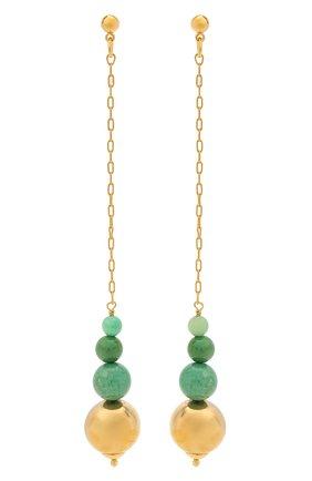 Женские серьги MAISON VIOLETTE зеленого цвета, арт. B0 2043   Фото 1 (Материал: Металл)