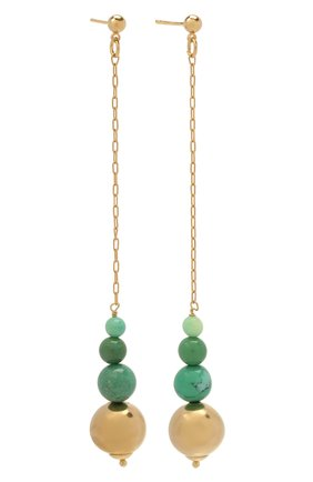Женские серьги MAISON VIOLETTE зеленого цвета, арт. B0 2043   Фото 3 (Материал: Металл)