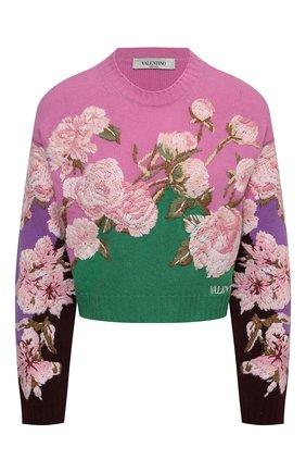 Женский свитер из шерсти и кашемира VALENTINO зеленого цвета, арт. VB0KCC206F0 | Фото 1