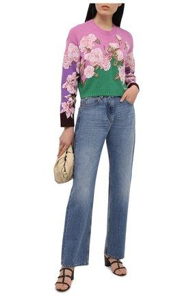 Женский свитер из шерсти и кашемира VALENTINO зеленого цвета, арт. VB0KCC206F0 | Фото 2