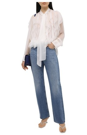 Женская шелковая блузка VALENTINO кремвого цвета, арт. VB0AB2F02UP   Фото 2