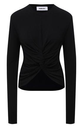Женский пуловер из вискозы AMBUSH черного цвета, арт. BWAB004S21JER001   Фото 1