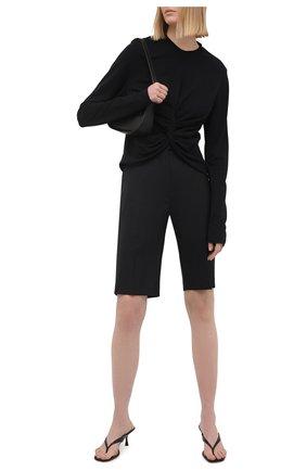 Женский пуловер из вискозы AMBUSH черного цвета, арт. BWAB004S21JER001   Фото 2