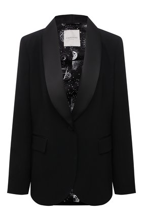 Женский жакет ERMANNO FIRENZE черного цвета, арт. D38ET CP16CRE | Фото 1