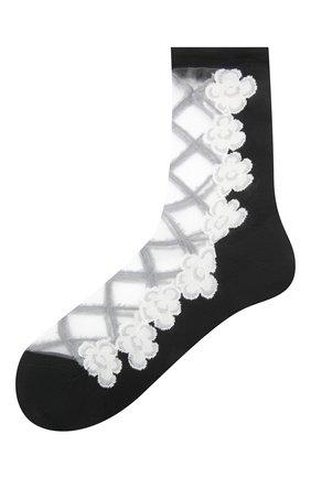 Женские хлопковые носки ANTIPAST черного цвета, арт. KT-152S   Фото 1