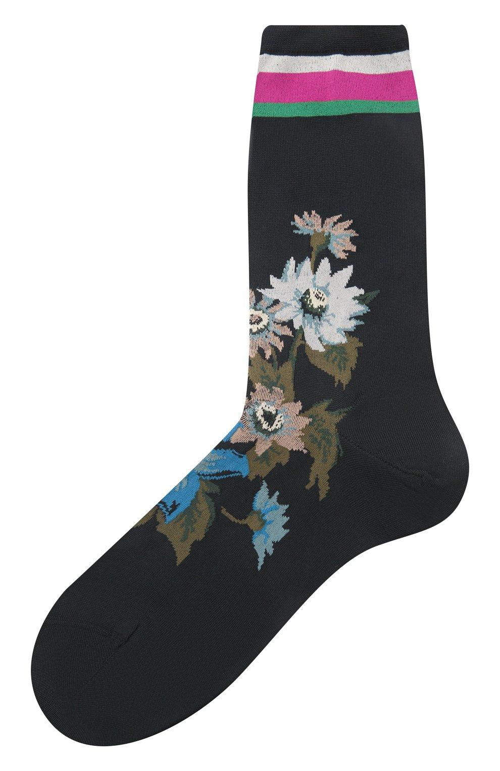 Женские хлопковые носки ANTIPAST черного цвета, арт. AM-600C | Фото 1